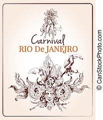 Rio carnival poster - Traditional rio brazilian carnival...