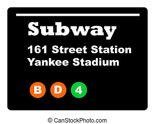 Yankee Stadium subway sign - Yankee Stadium subway train...