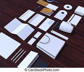 Corporate mockup design. - Material for branding,...