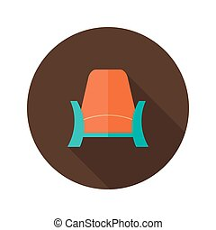 Armchair icon over brown