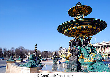 Place de la Concorde Paris, France - Fountain, Place de la...