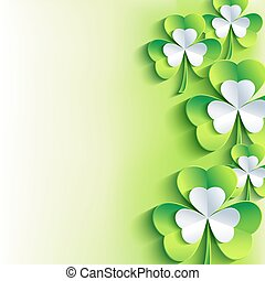 St Patricks day card with gray, g - Beautiful abstract St...