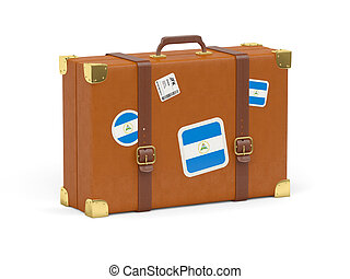 Suitcase with flag of nicaragua - Travel suitcase with flag...