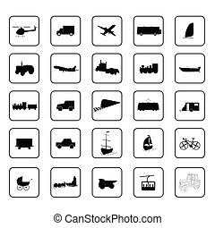 transport icon black vector illustration