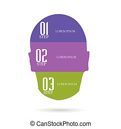 lorem ipsum on head vector illustration