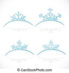 Blue Crown tiara snowflakes shaped for Christmas ball