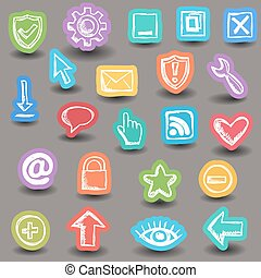 Set of internet web icons