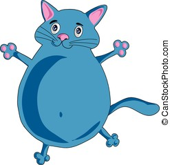 Cheery blue cat - Cute cheery blue cat