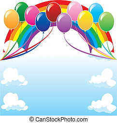 balloonbackground2 - 10 colorful balloons can be used for...