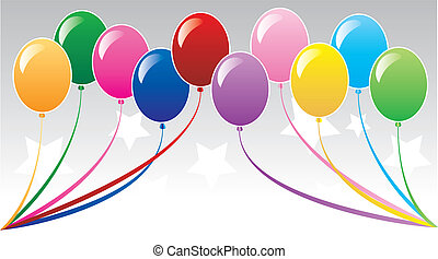 balloonbackground3 - 10 colorful balloons can be used for...