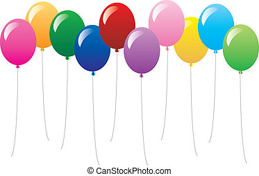 balloons - 10 colorful balloons can be used for anything....