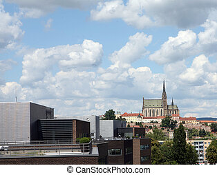 View of ghotic cathedral in Brno