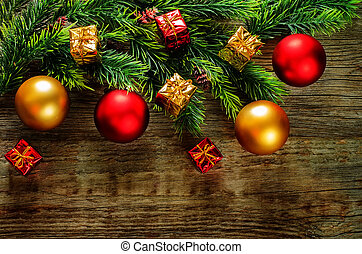 Christmas background with balls - Christmas background with...