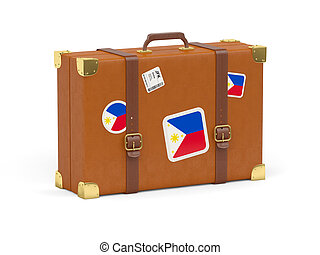 Suitcase with flag of philippines - Travel suitcase with...