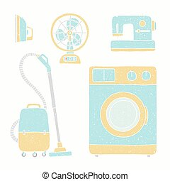 Household appliances set