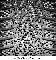 Car tire tread background closeup. Abstract concept image.