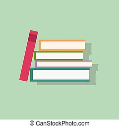 book stack flat icons design vector shadow color object