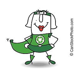 Karen the super recycling woman - Karen is a super recycling...