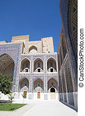 Samarkand - Architecture details of the Ulugh Beg Madrasah...
