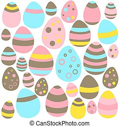Yellow blue and pink Eastern eggs seamless texture