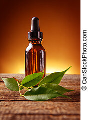 Essential oil - Pure organic essential oil in amber glass...