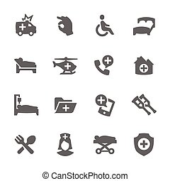 Medical Transportation Icons