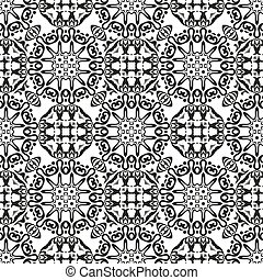 Abstract seamless outline pattern - Abstract seamless...