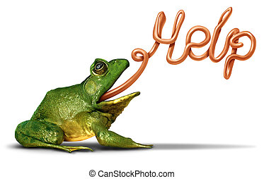 Environment Help - Environment help symbol as a green frog...