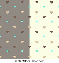 Seamless heart pattern two colours - Illustration of...