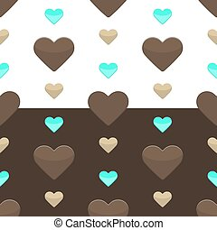 Seamless hearts pattern two colours