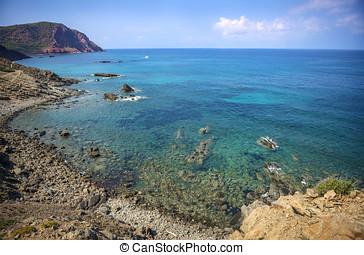 Cala Pilar beach in Menorca Alfuri de Dalt at Balearic...