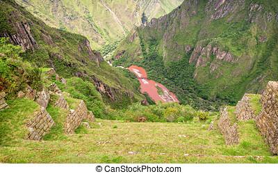 Inca city Machu Picchu Peru