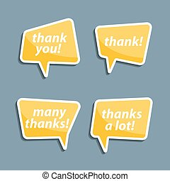 Speech bubbles to talk about thank A vector illustration
