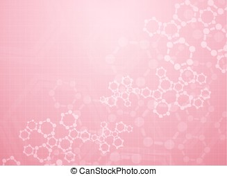 medical background - Abstract molecules medical background