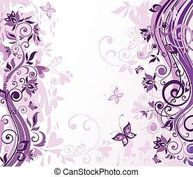 Vintage violet floral card
