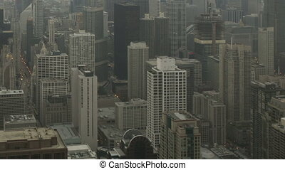 Time lapse tilt pan shot Chicago - Time lapse tilt and pan...