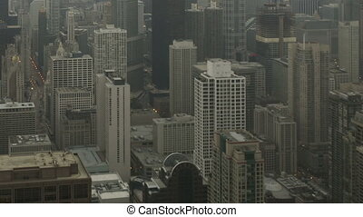 Time lapse zoom out Chicago skyline