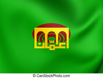 Flag of Amman, Jordan. Close Up.