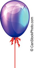 Party balloon. Vector illustration