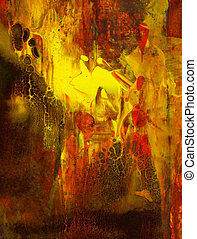 Grunge abstract textured mixed media collage, art background...