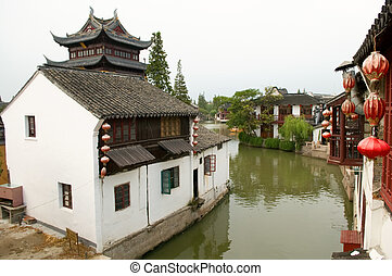 Water town - The panorama view of water town in China