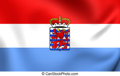 Flag of Luxembourg Province, Belgium. Close Up.