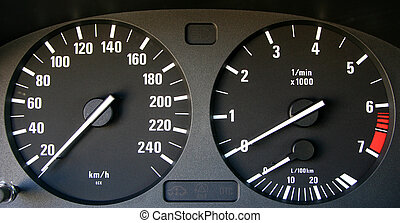 Auto speedometer and tachymeter - Speedometer and tachymeter...