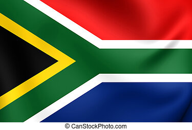 Flag of South Africa Close Up