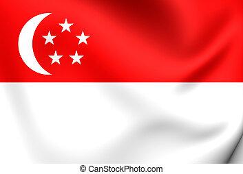 Flag of Singapore Close Up