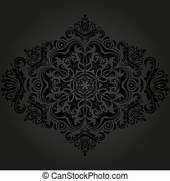 Floral Pattern Orient Abstract Background - Floral oriental...