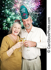 Seniors Party on New Years Eve - Fireworks
