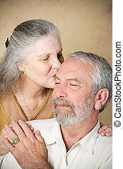 Senior Couple - Tender Kiss