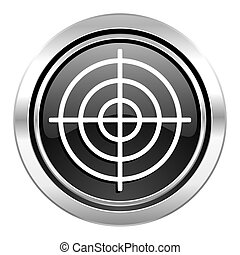 target icon, black chrome button