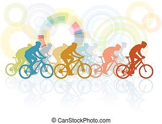 bicicleta, carrera,